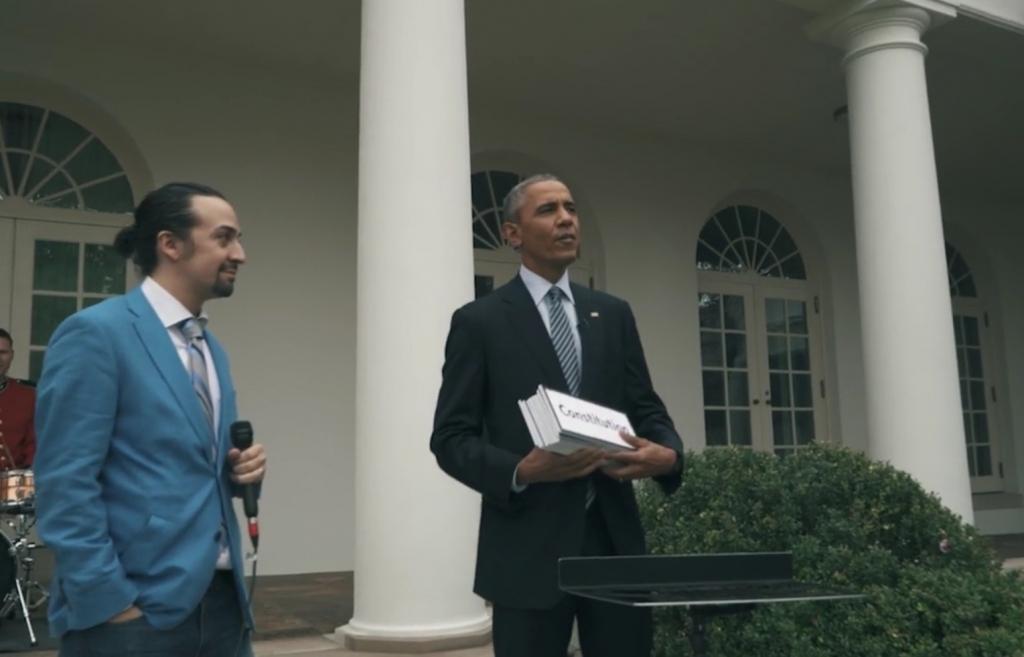 Lin-Manuel Miranda del Musical 'Hamilton' de Broadway y su 'Free-Style' con Obama