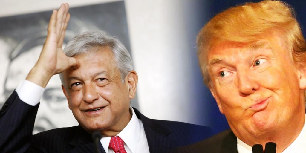 Conciertan alianza AMLO y Donald Trump