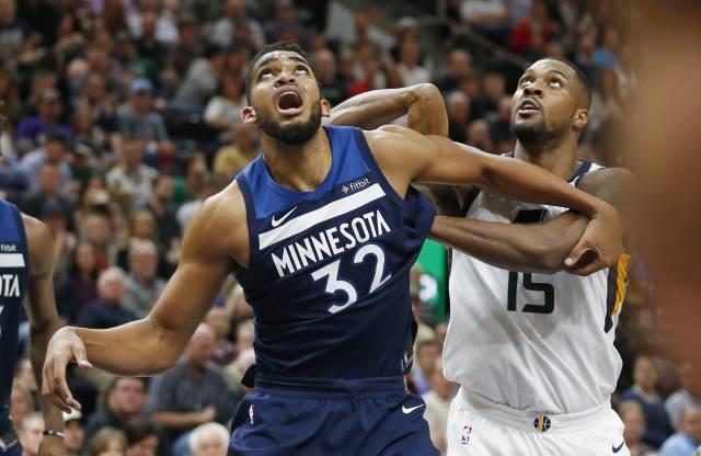 Con 'doble doble' de Towns, Wolves vencen a Jazz