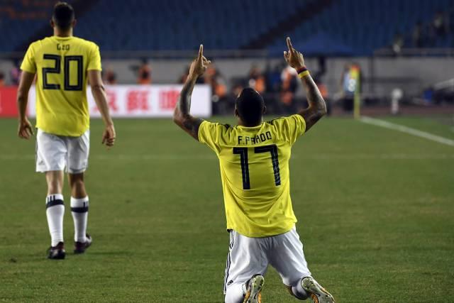 Colombia supera 4-0 a China con doblete de Borja