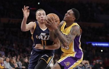 Jazz frena remontada de Lakers sin Snyder, gana 107-101