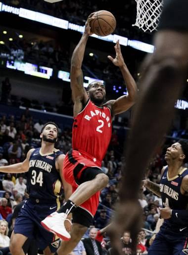 Con 31 puntos de Leonard, Raptors vencen 127-104 a Pelicans